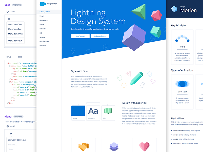 Salesforce Lightning Design System , Image by  Thanh Quach