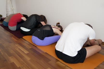 Forward Bend - yin yoga skeletal variation