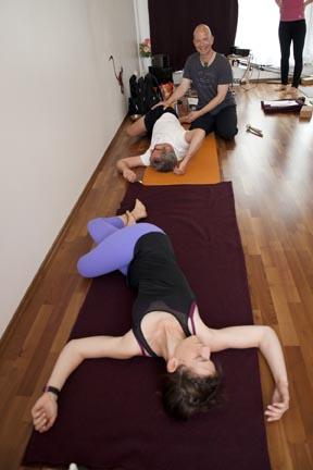 Twist - yin yoga skeletal variation