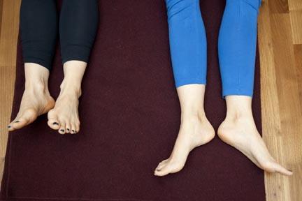 rotation of the leg - yin yoga skeletal variation