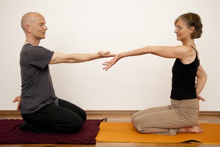 extension of the arm - yin yoga skeletal variation