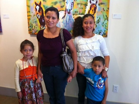 Summer ESL vocabulary class students and families at Spiva