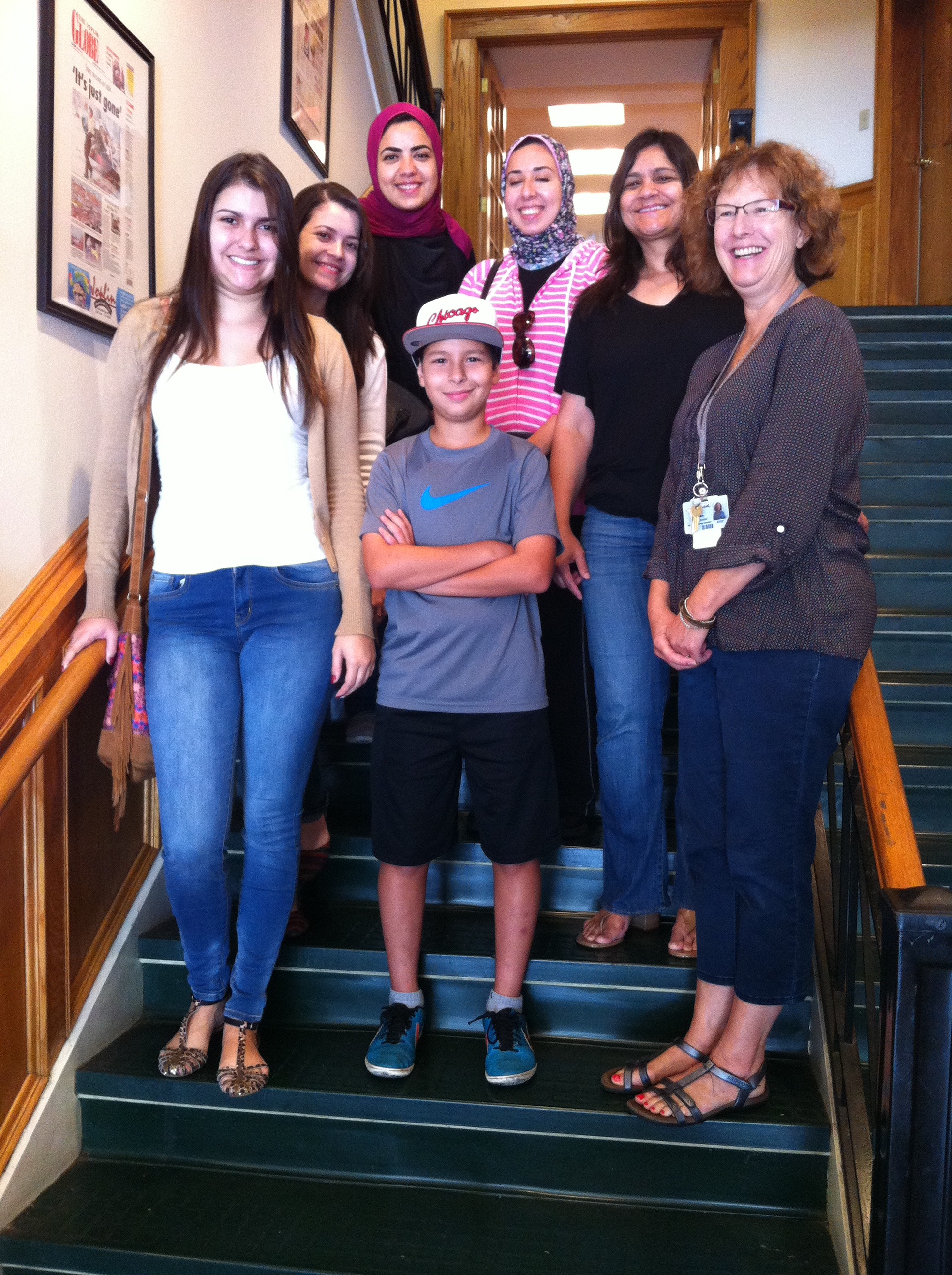 Joplin NALA ESL students visit The Joplin Globe in downtown Joplin, MO.