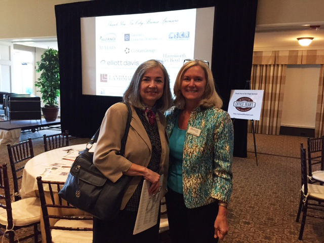 Cherie Liollio with Linda Kennedy, Business Banking Manager, Ameris Bank