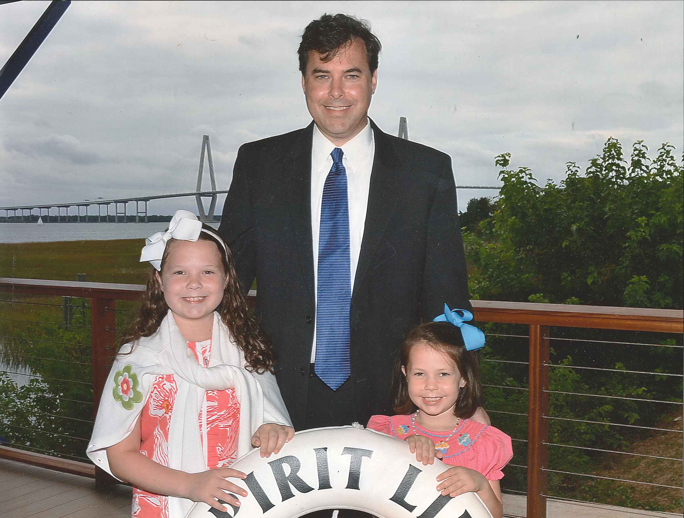 The YMCA father / daughter Indian Princess program is a great opportunity to spend time with my kids and support the greater Charleston YMCA programs at the same time. Events include camping trips, walk for water, pajama bowling, etc. This picture is from a semi-formal harbor dinner cruise at patriots point.  Andy Clark