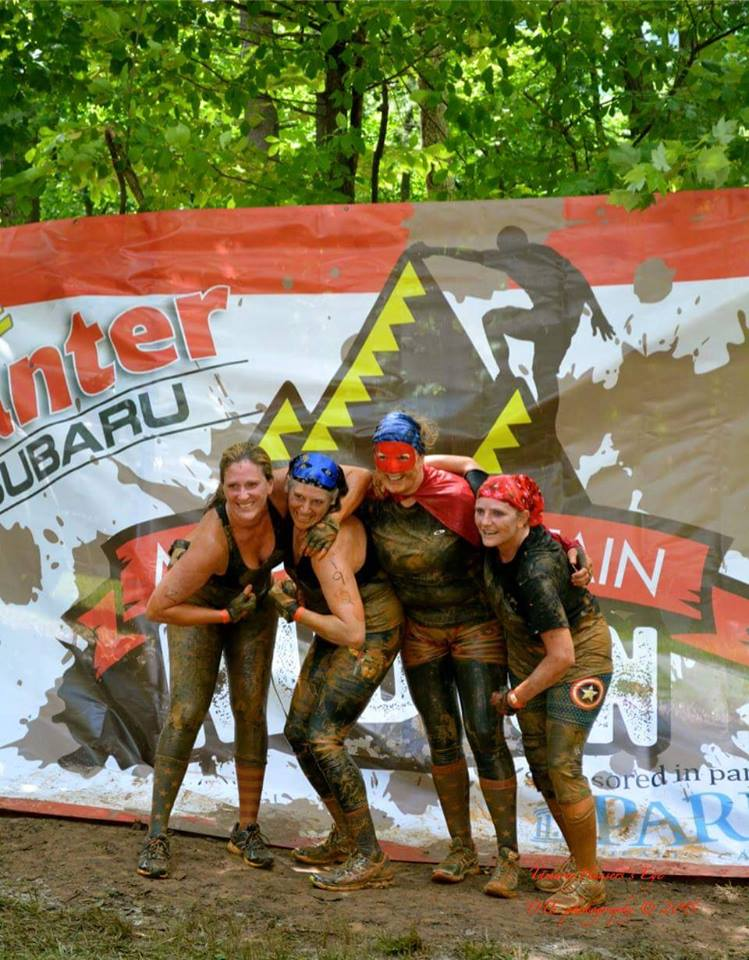 I love running and participating in races and recently I discovered the world of mudruns and the teamwork they require, the fun of dressing up as superheros and getting all muddy.  Angie Brose