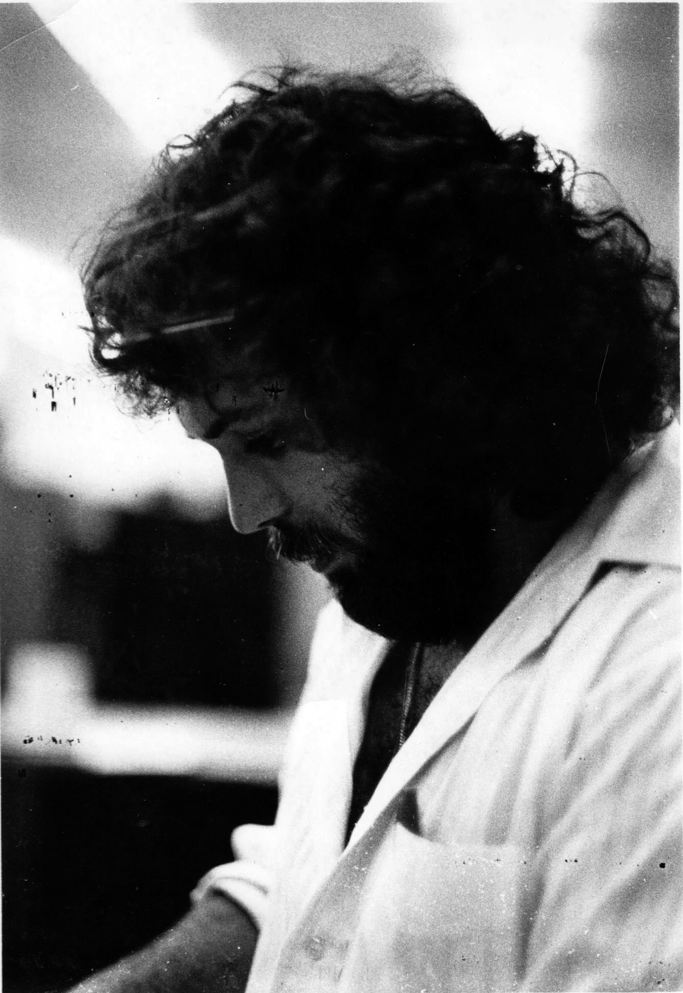 What happened to all that hair? Contemplating architecture in 1975….  Dinos Liollio