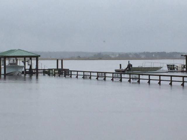 High tide Saturday on the Stono River.