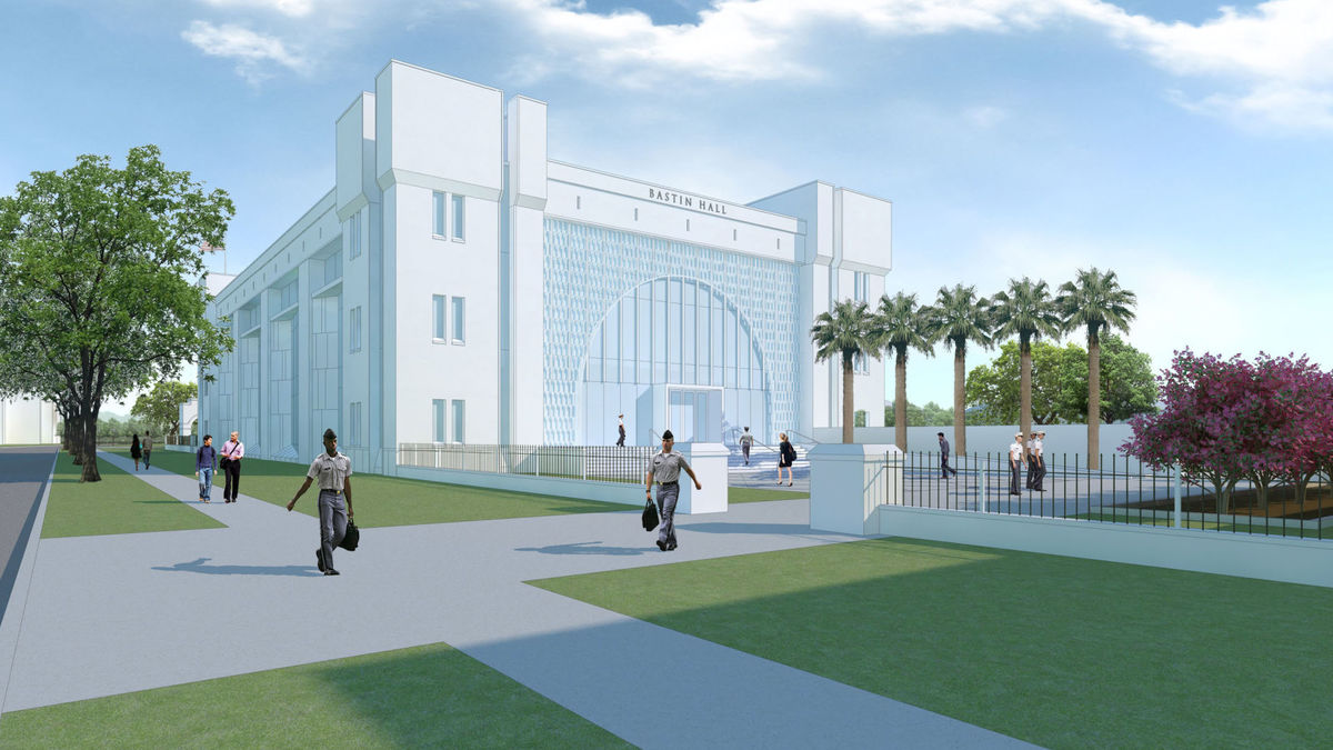 Construction of Bastin Hall, future home of The Citadel's business school, is set to start in June.
