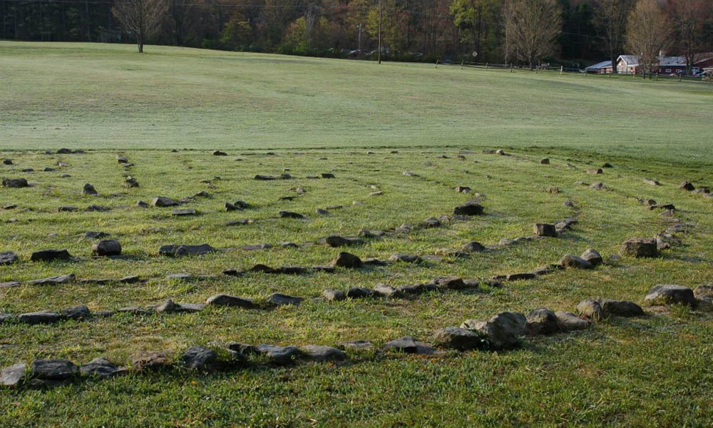 The LabyrinthMade out of creek stone and designed to engage mind, body and spirit in moving meditation. Labyrinths are designed to have only one path into and out from the center. Just begin walking… -