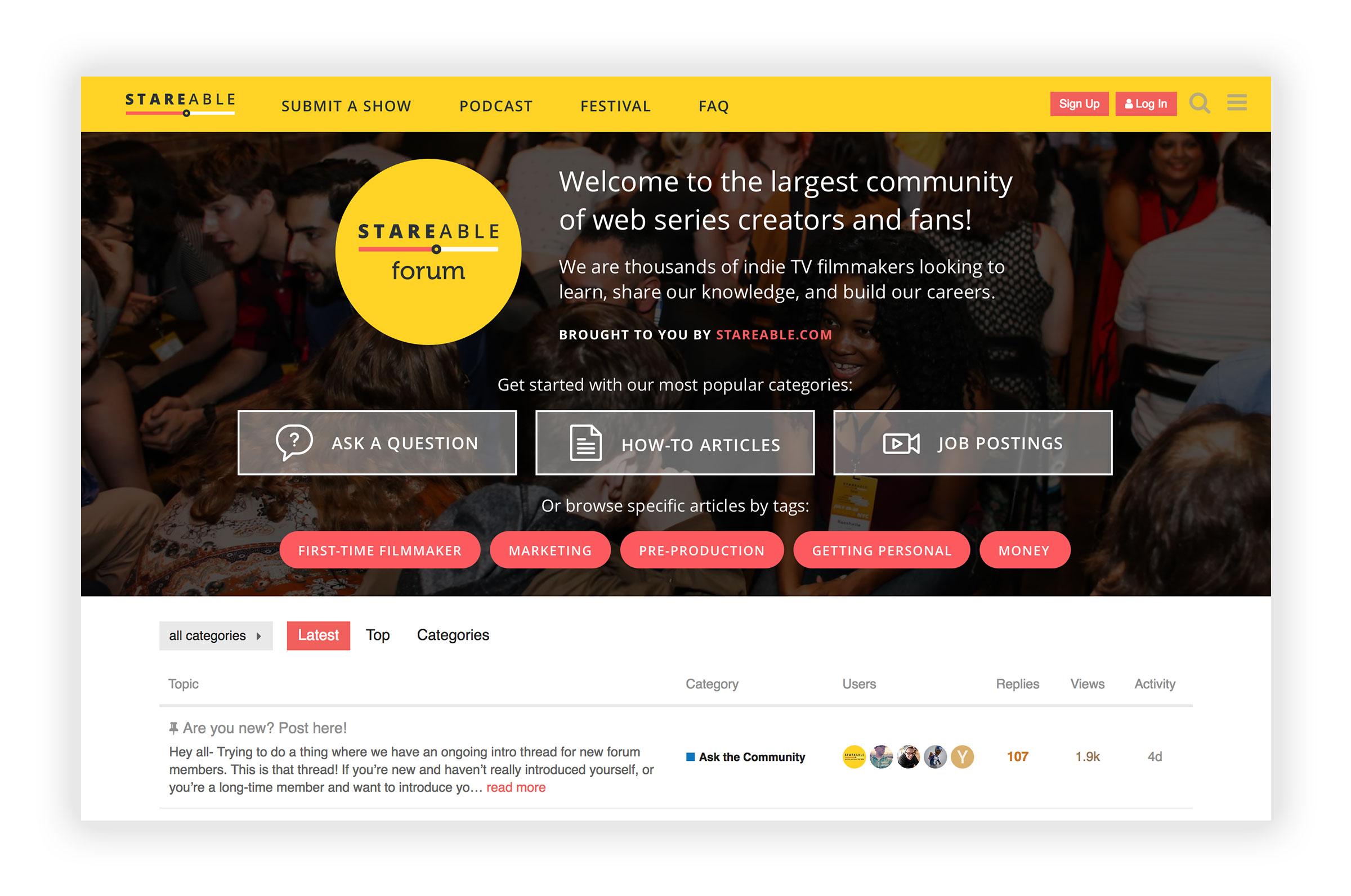 New Community Forum header