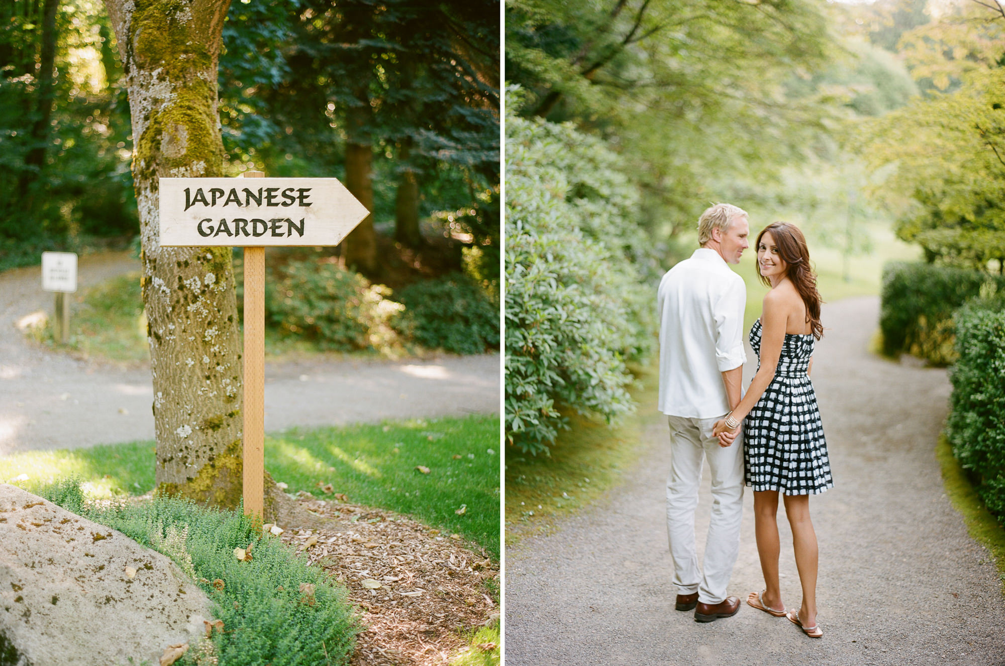 Japanese Botanical Gardens Engagement Session in Seattle, WA: Noree and Chris