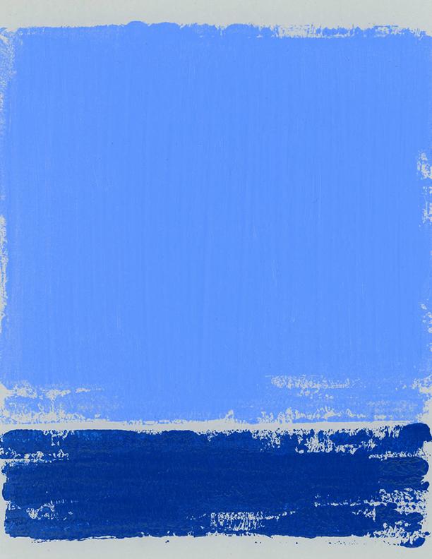 Blue Composition No. 909 (detail)