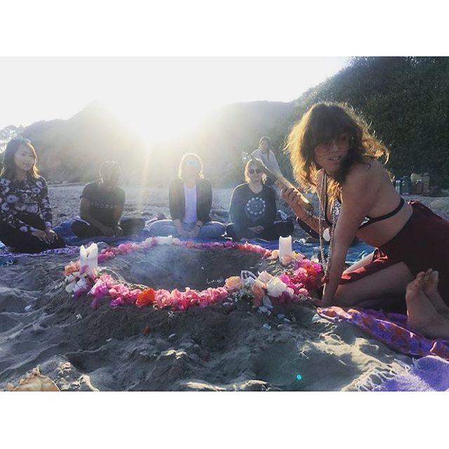 Fire tending 🔥 ritual magic w/ my shakti tribe 📿✨