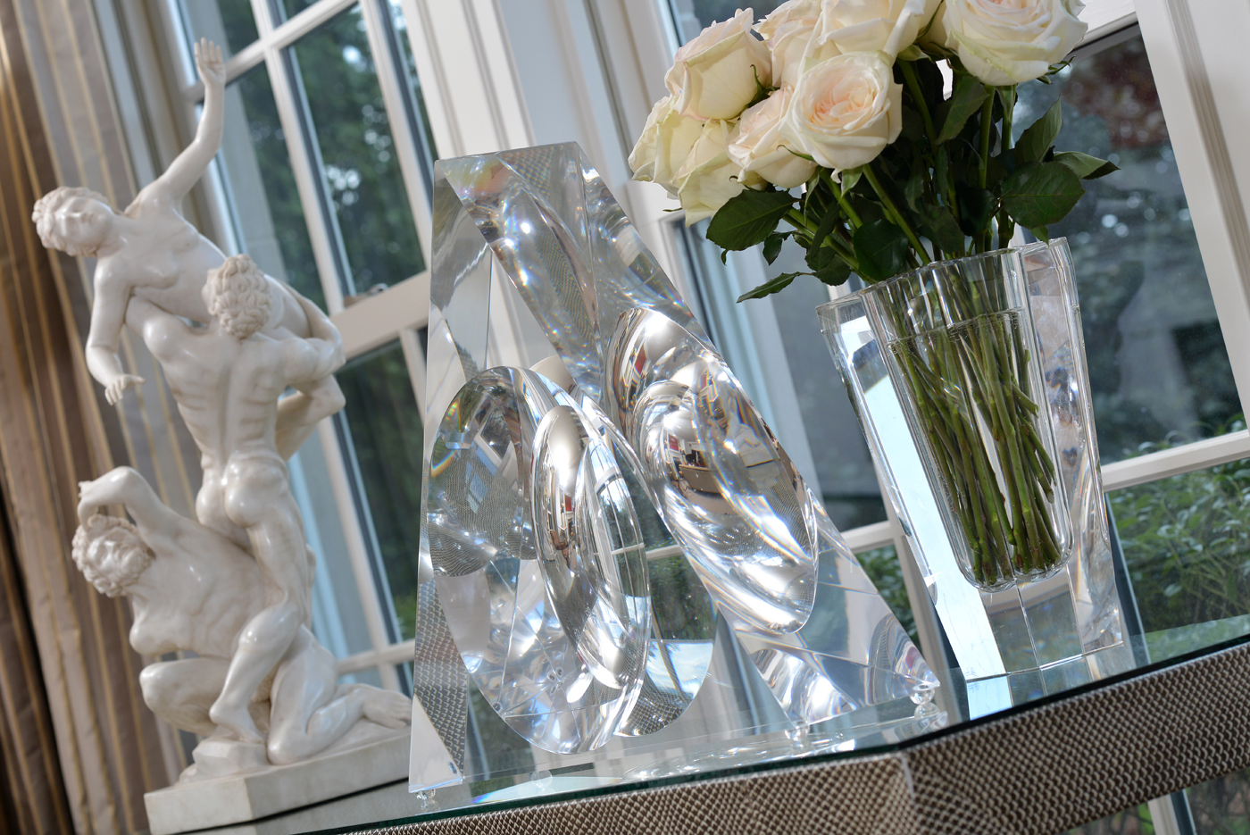 Pairing of both classical and modern sculptures on display in Nashville residence | Savage Interior Design