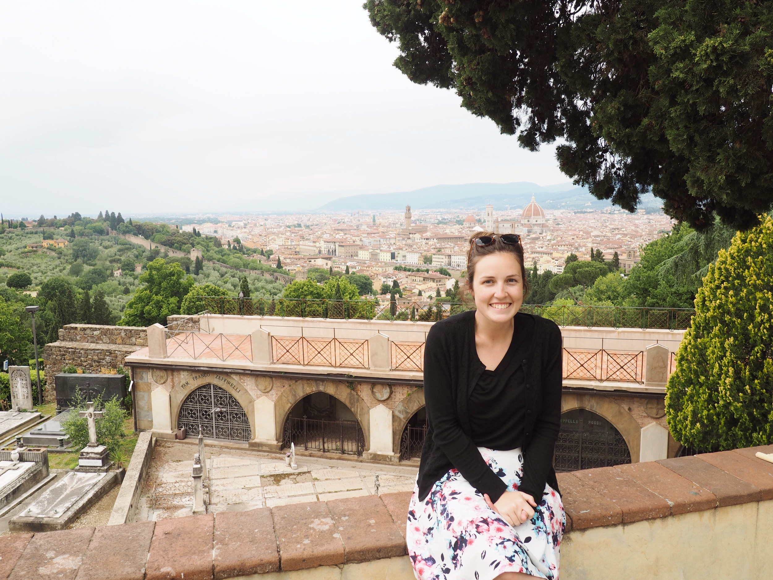 Amanda in Florence on a recent trip to Italy!