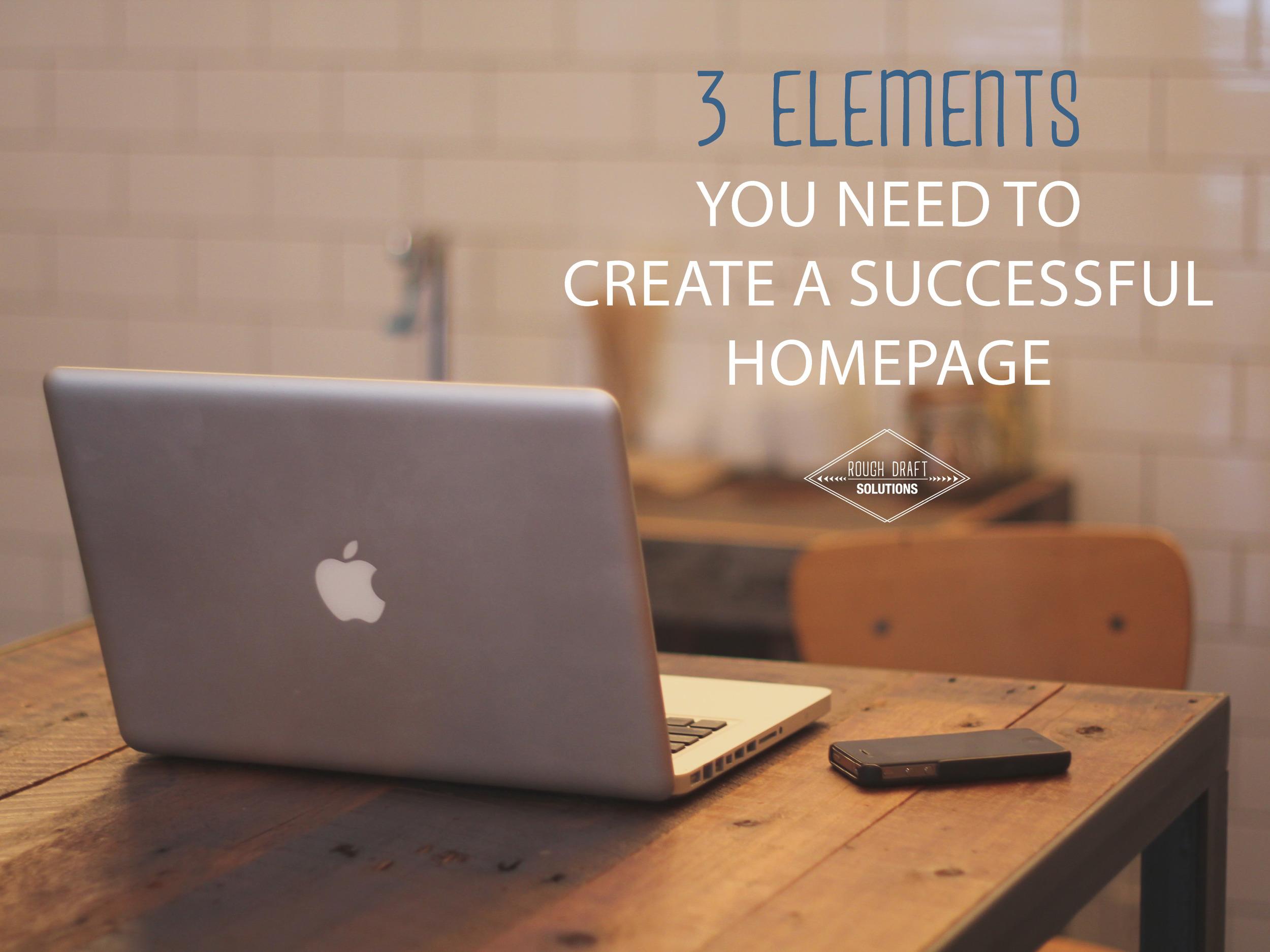 Create a Successful Homepage