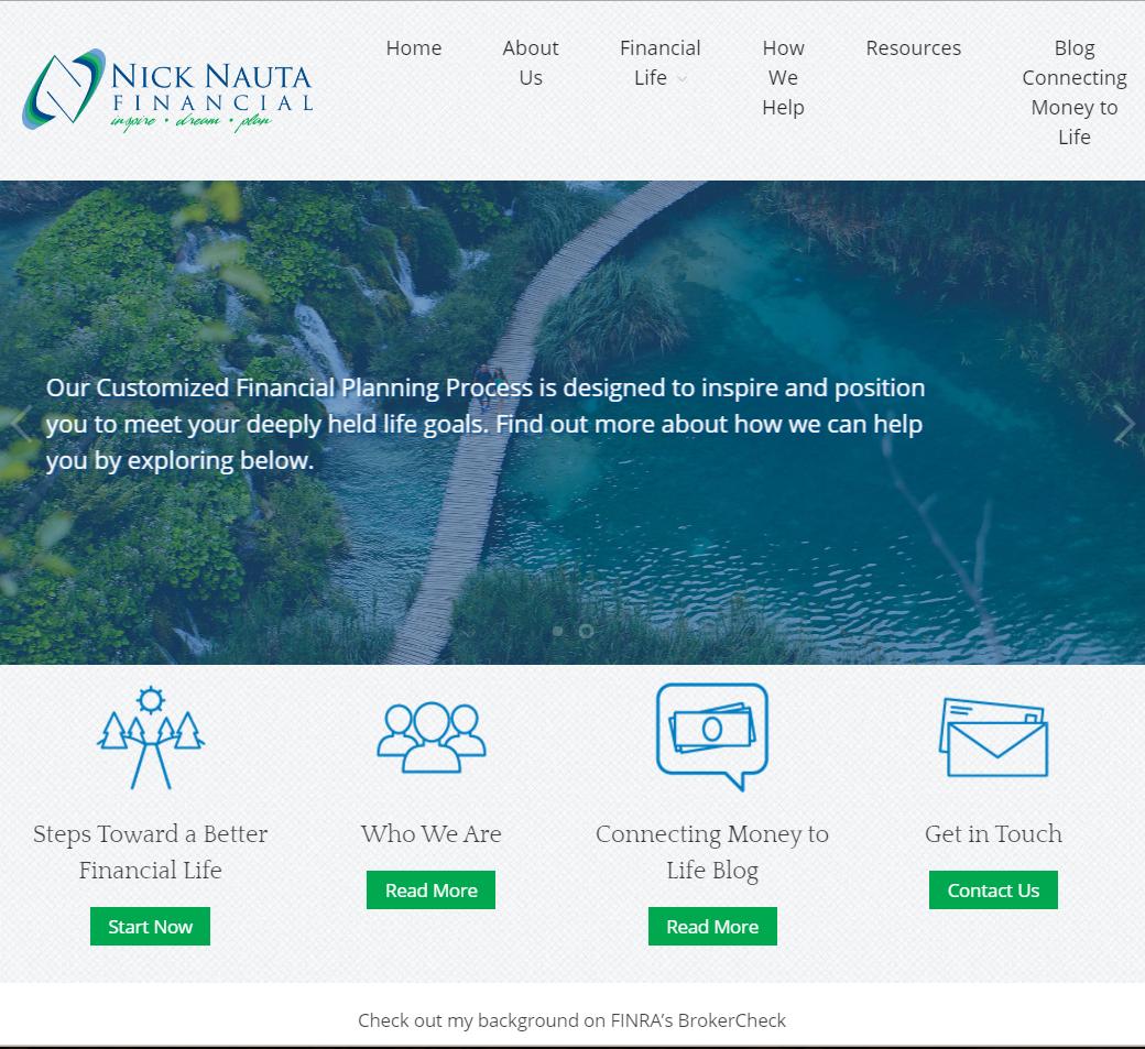 Nick Nauta Financial Website Content