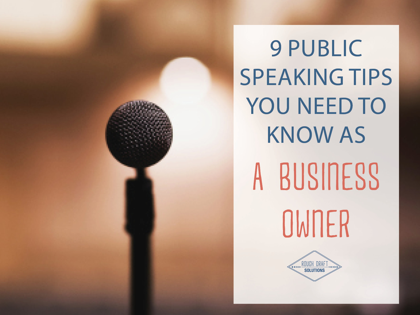 9 public speaking tips for business owners