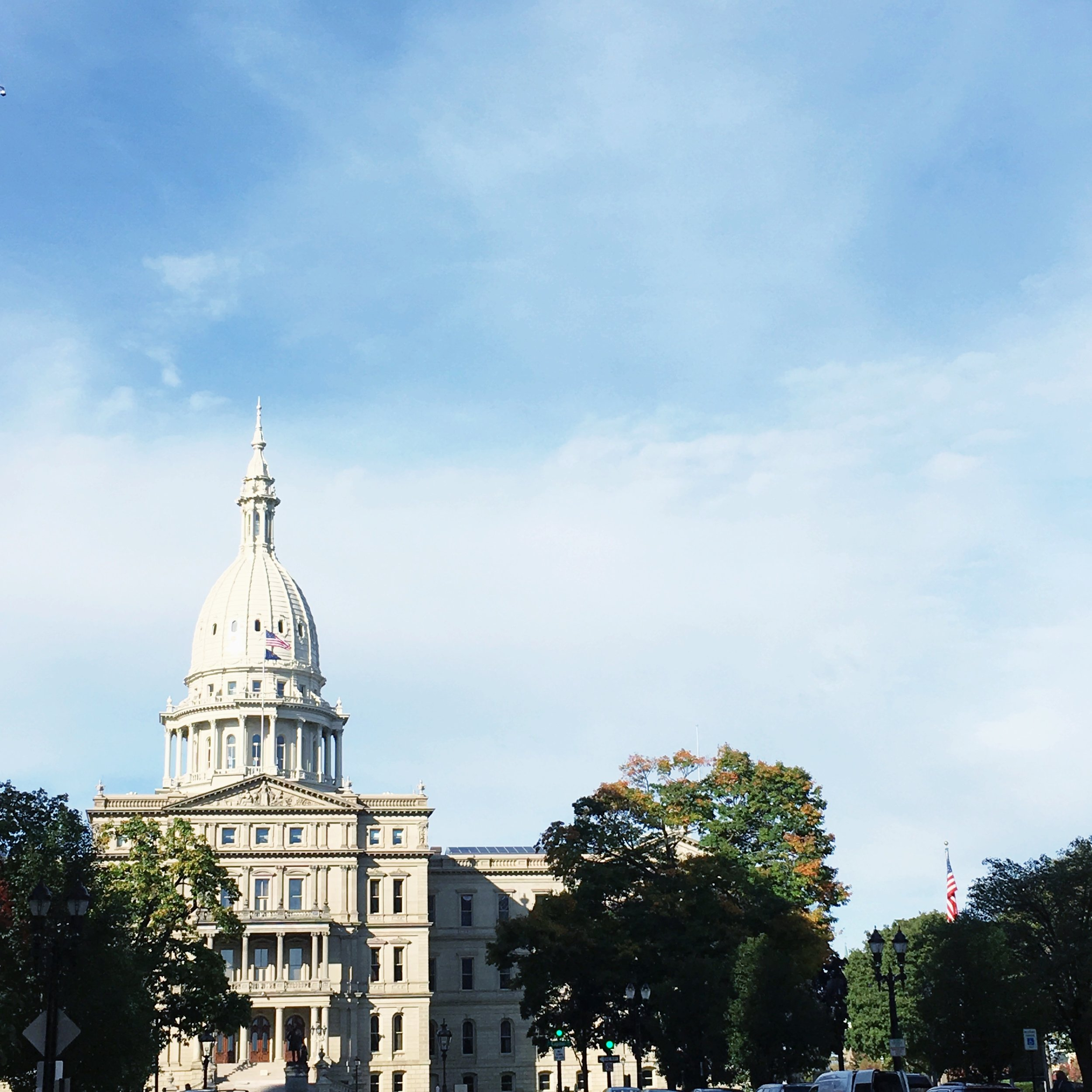 A beautiful morning for a photoshoot with  Cold Box Films . A client needed headshots and the buildings around the Lansing Capitol were the perfect backdrop!