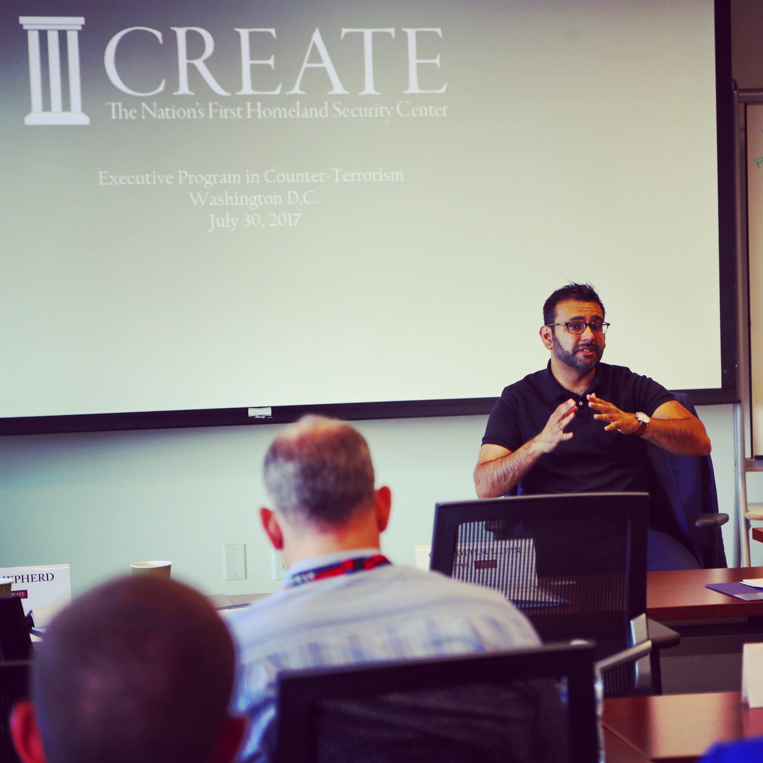 July 2017  CREATE Executive Program on Counter-Terrorism  Washington, D.C.