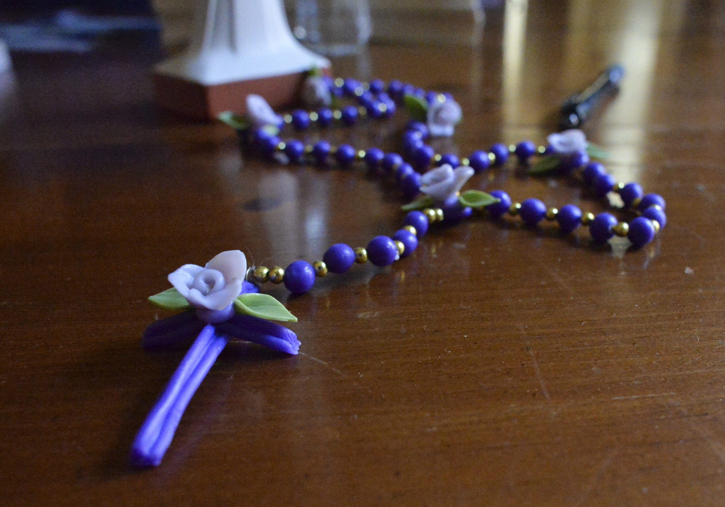 """It has been so wonderful how much people have given to the Centro Latino,"" Sistern Fran Wilhelm says. ""Everything here has been donated or gifted to us."" Much of the donated items such as this rosary have been brought back or sent from South America."