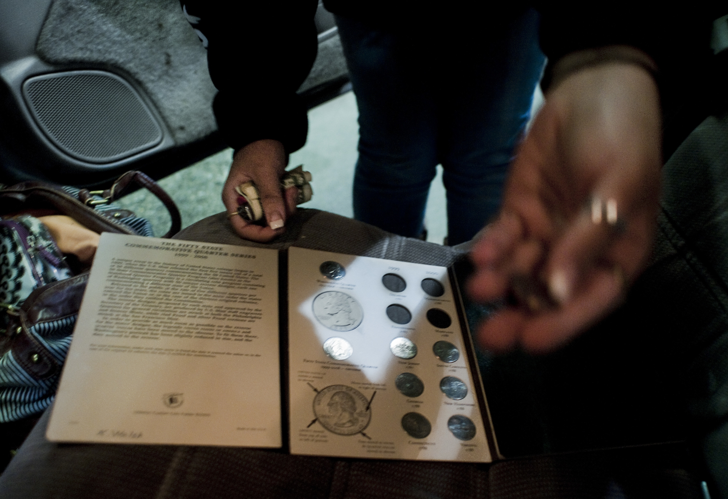 The fear of withdrawal and the physical and psychological dependence that comes with opiate addiction drives many chronic users to go to extreme measures to get their next fix. Here quarters are taken from a coin collection to afford another fix.