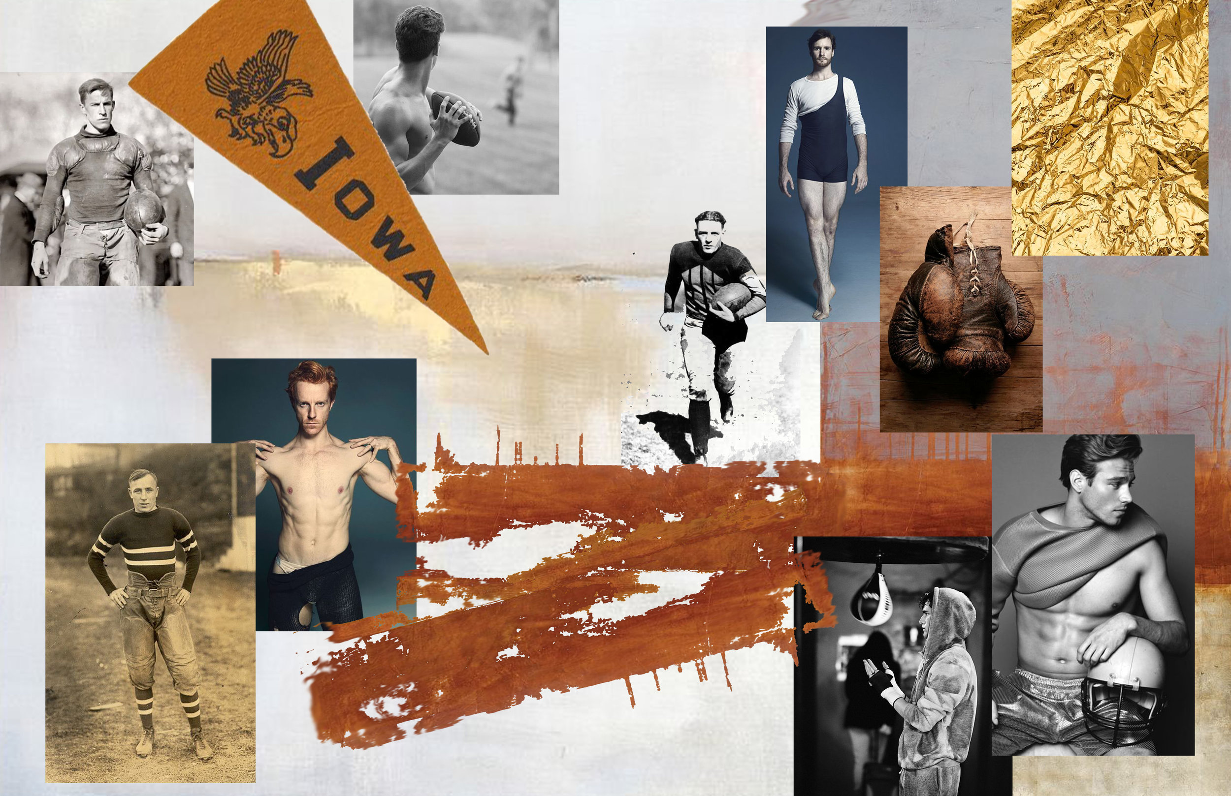 """Mood Board for """"Les Americains""""; Portfolio Project"""