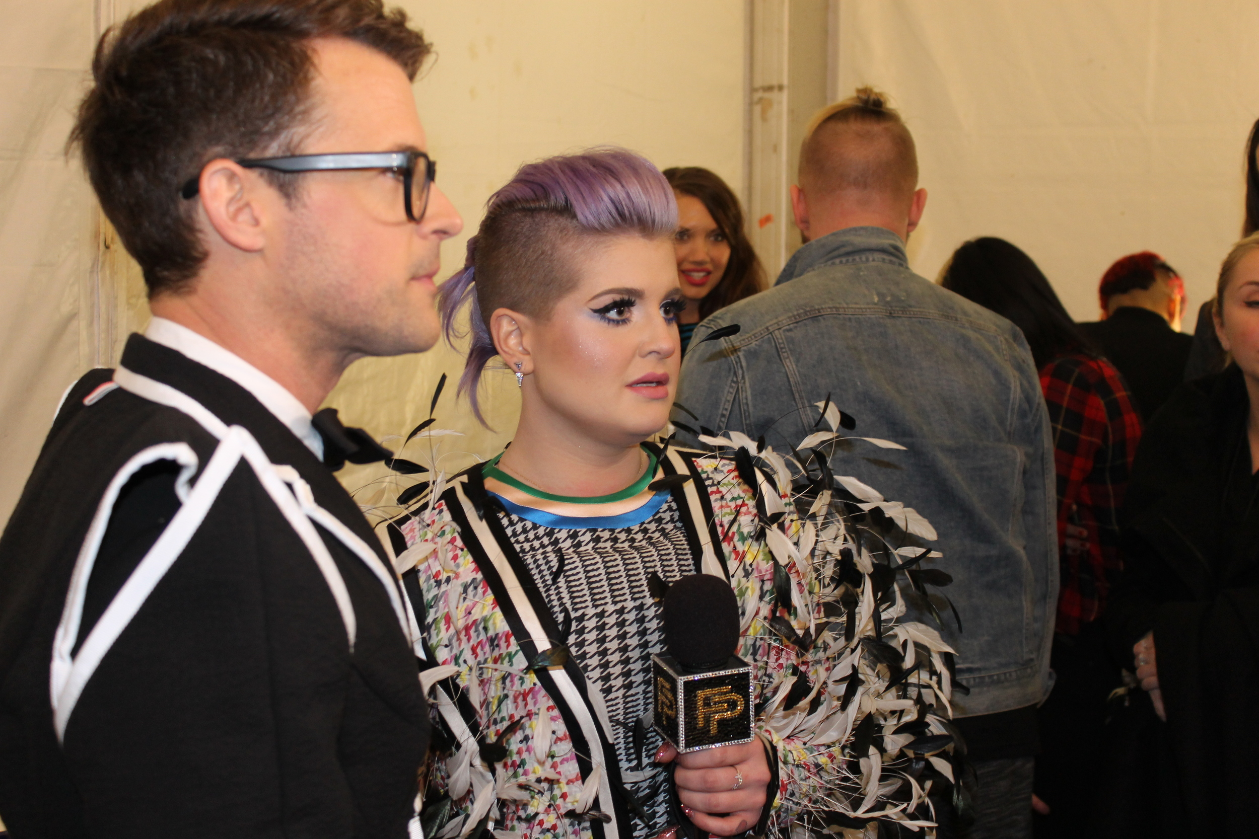 Brad Goreski and Kelly Osbourne of E's Fashion Police were on the scene.