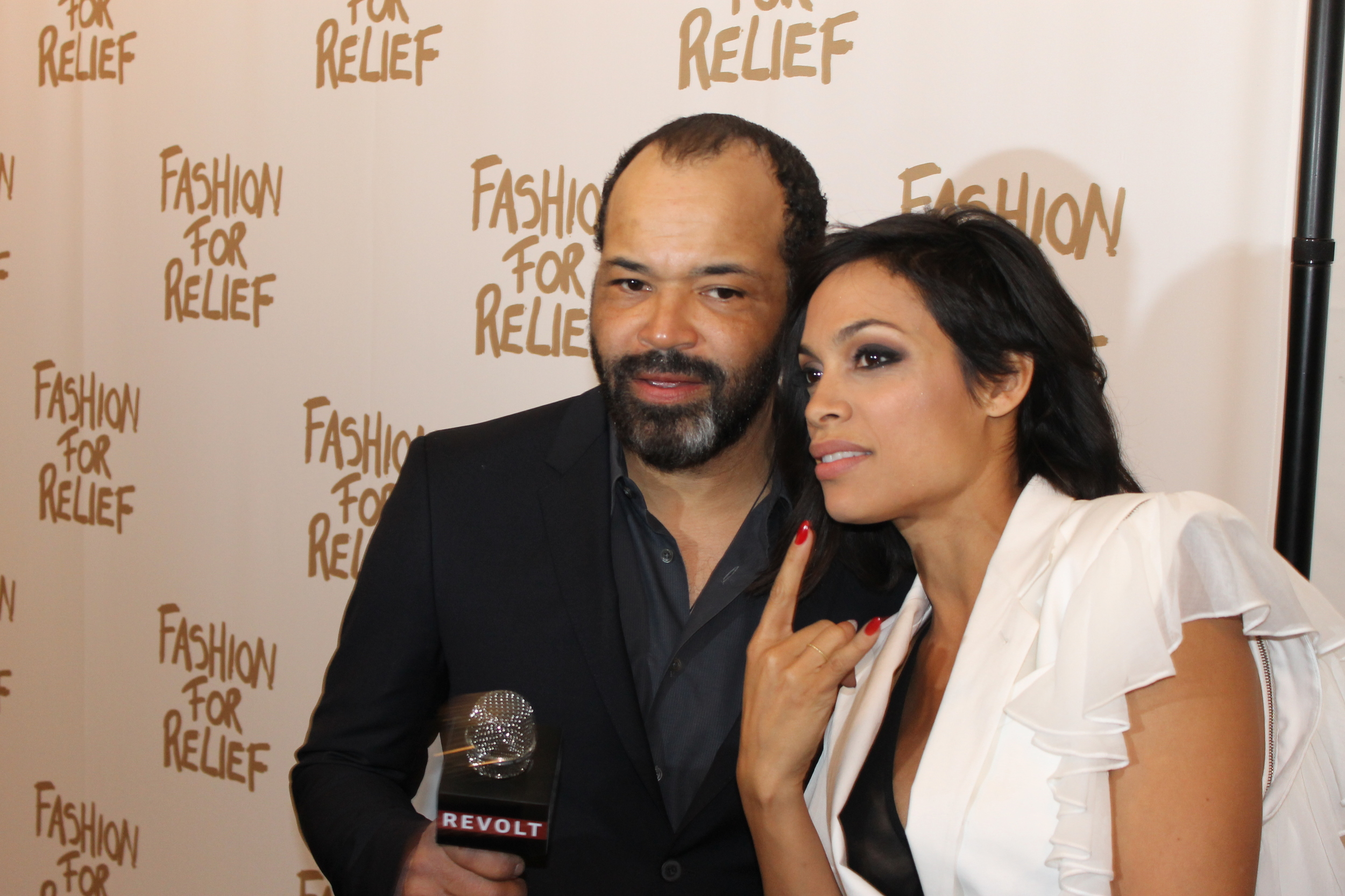 Rosario posed with actor friend Jeffrey Wright