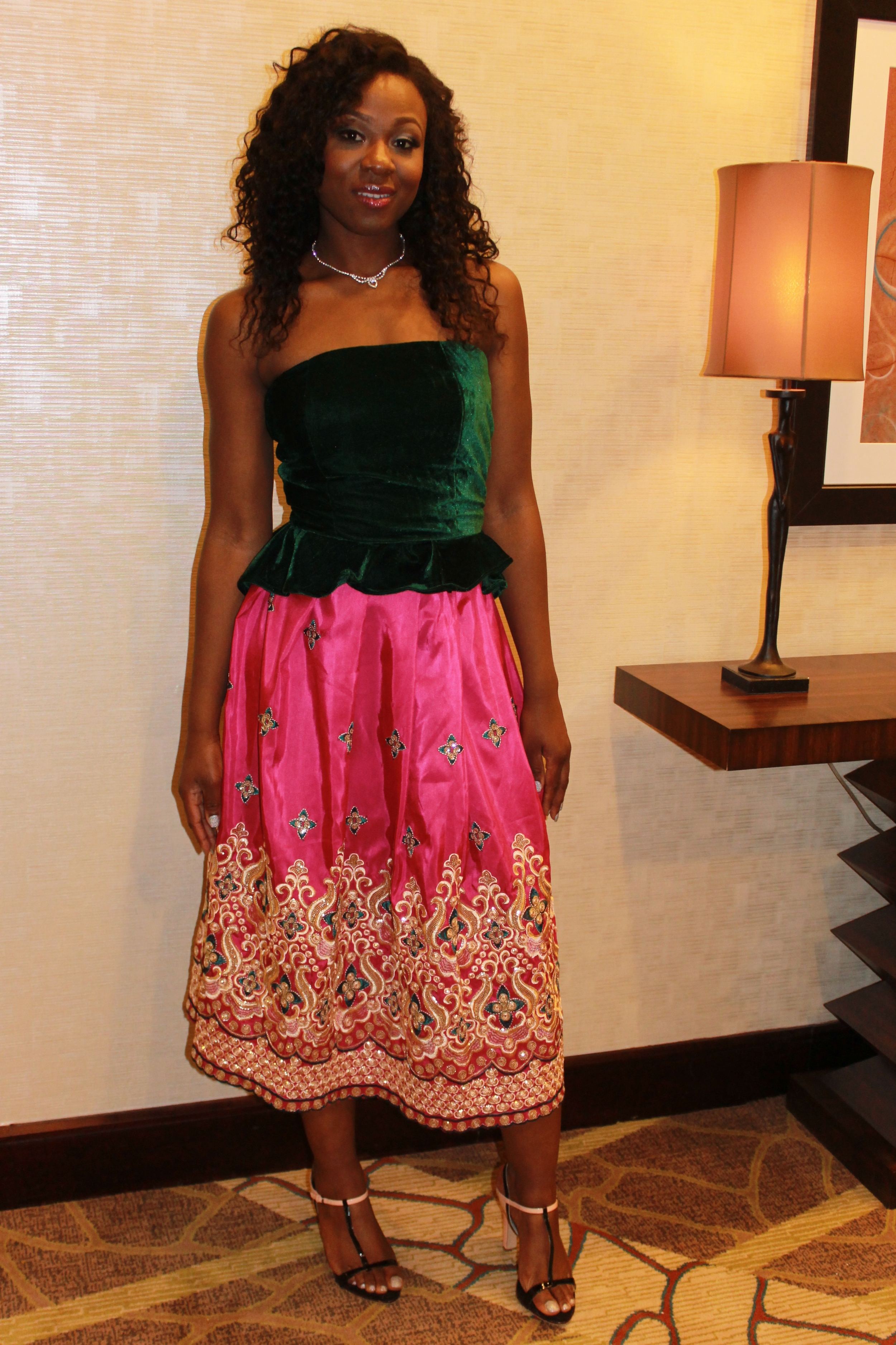This is how I wore the George at Chika's wedding.  I had it sewn into a midi length circle skirt.