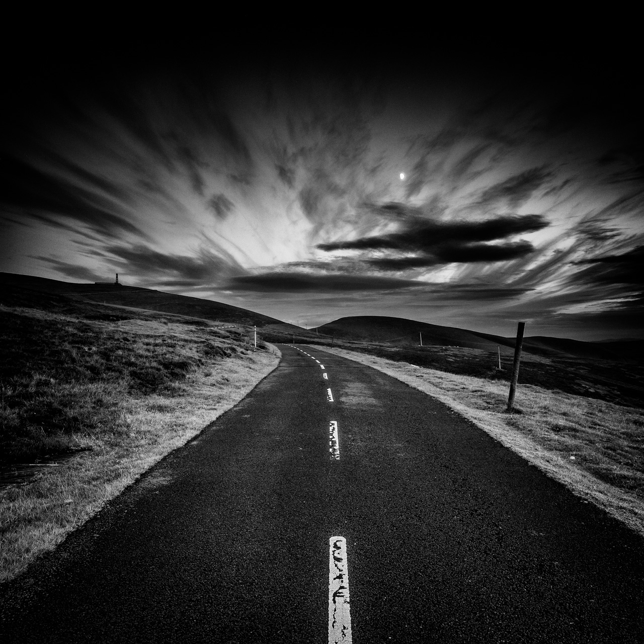 Midnight Road in Black & White.jpg