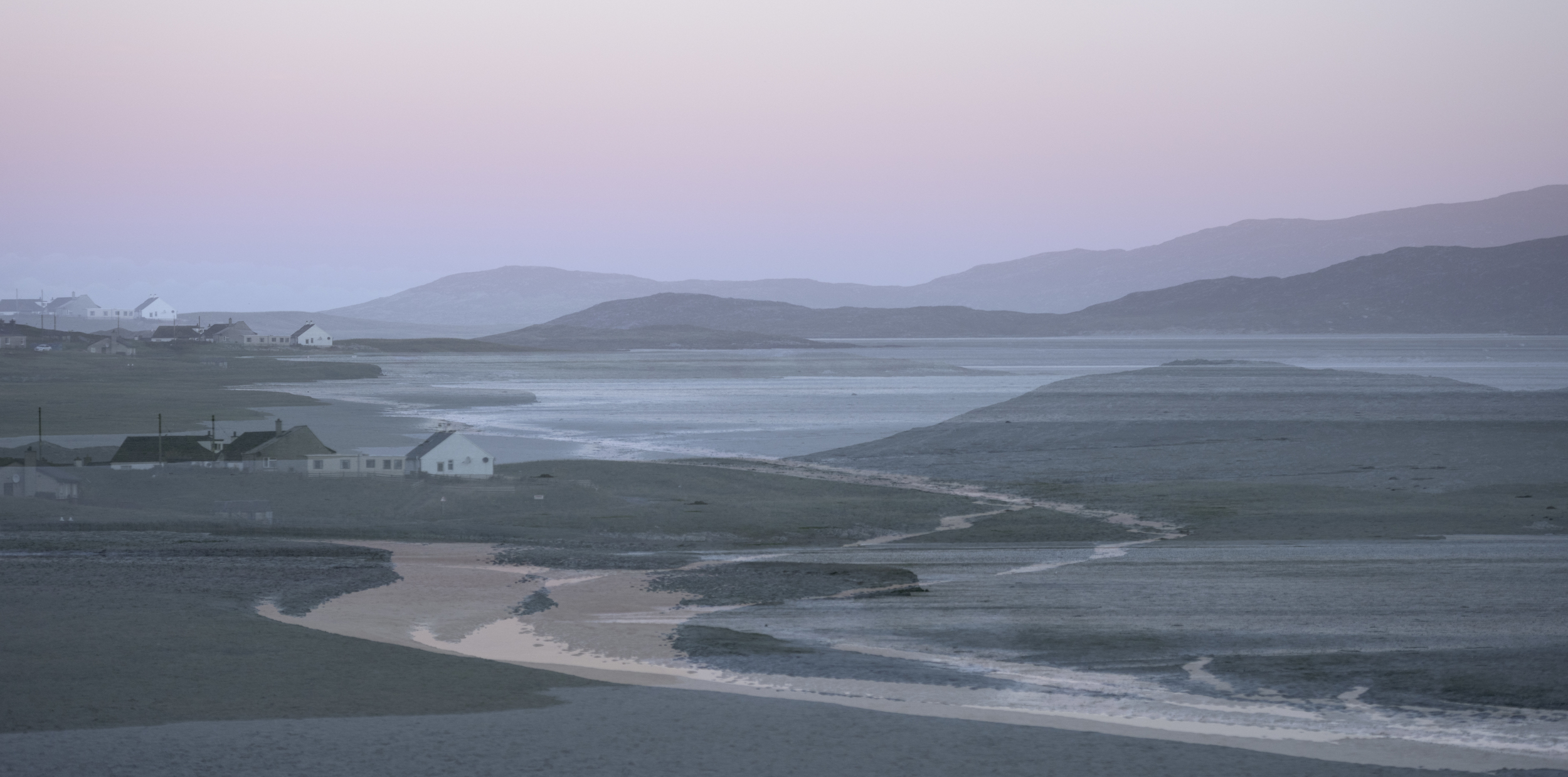 Luskentyre ME with winding streams, South Harris.