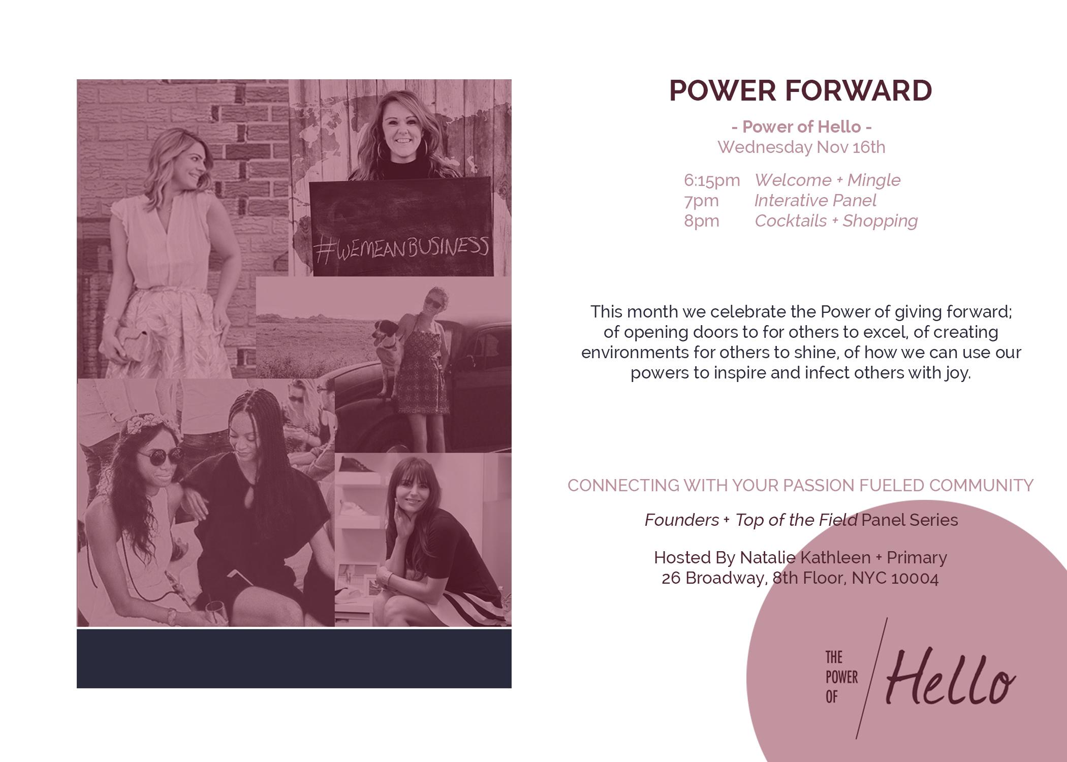 Power Of Hello // Natalie Kathleen Jaclynn Brennan Suwana Perry Monica Watkins Mary Gray Carol Cook
