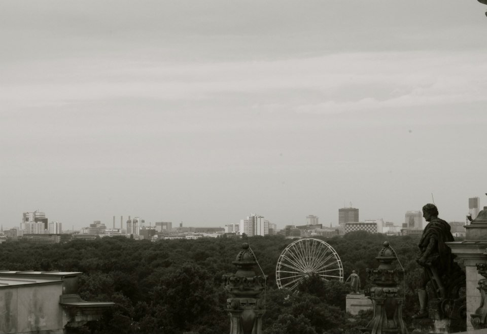 View from the top of the  Reichstag Building