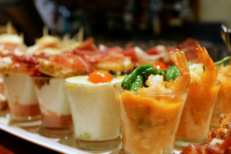 Pintxos (the Basque version of tapas) in Bilbao