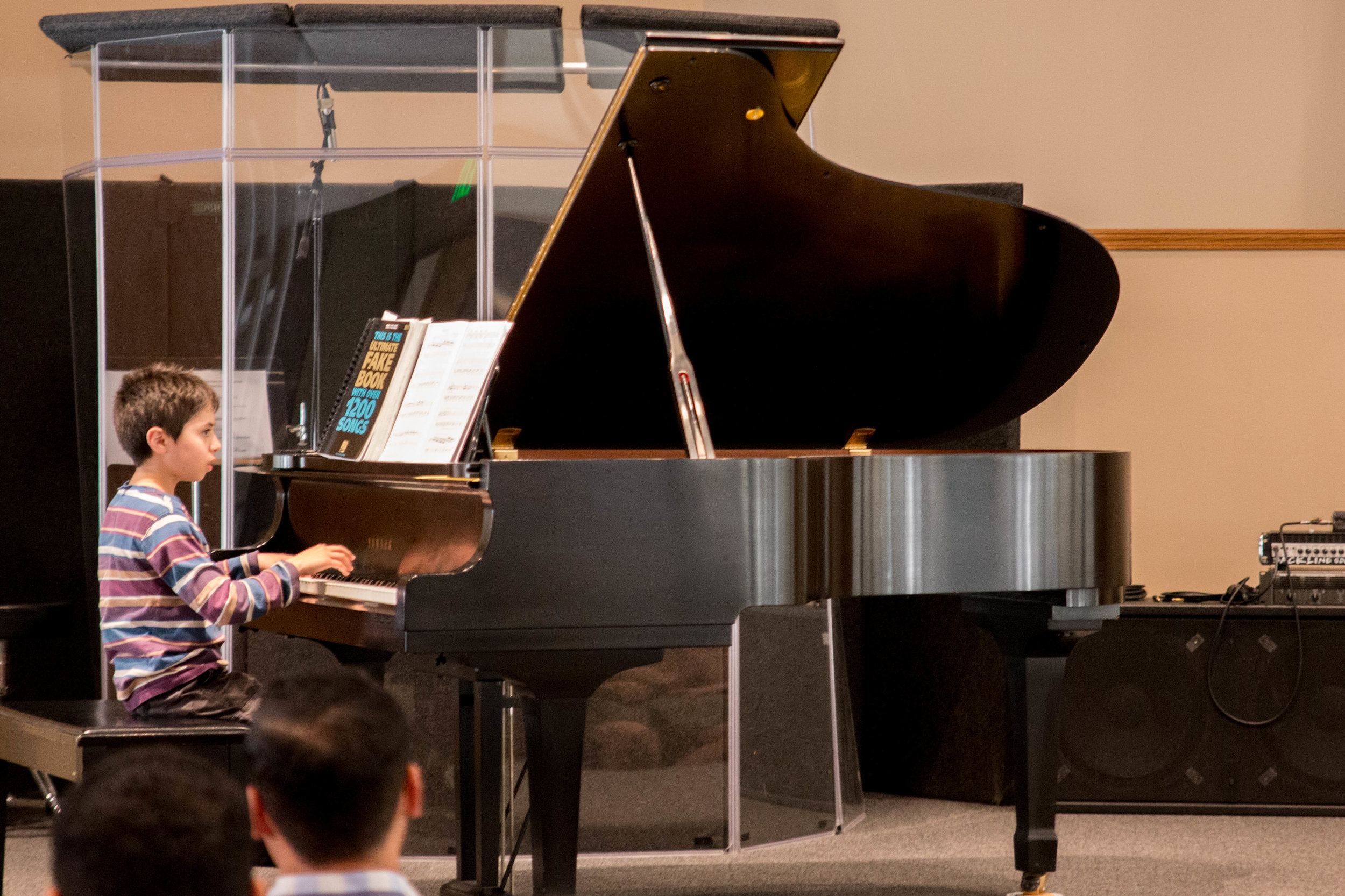 Gideon performing at the Spring 2017 Recital
