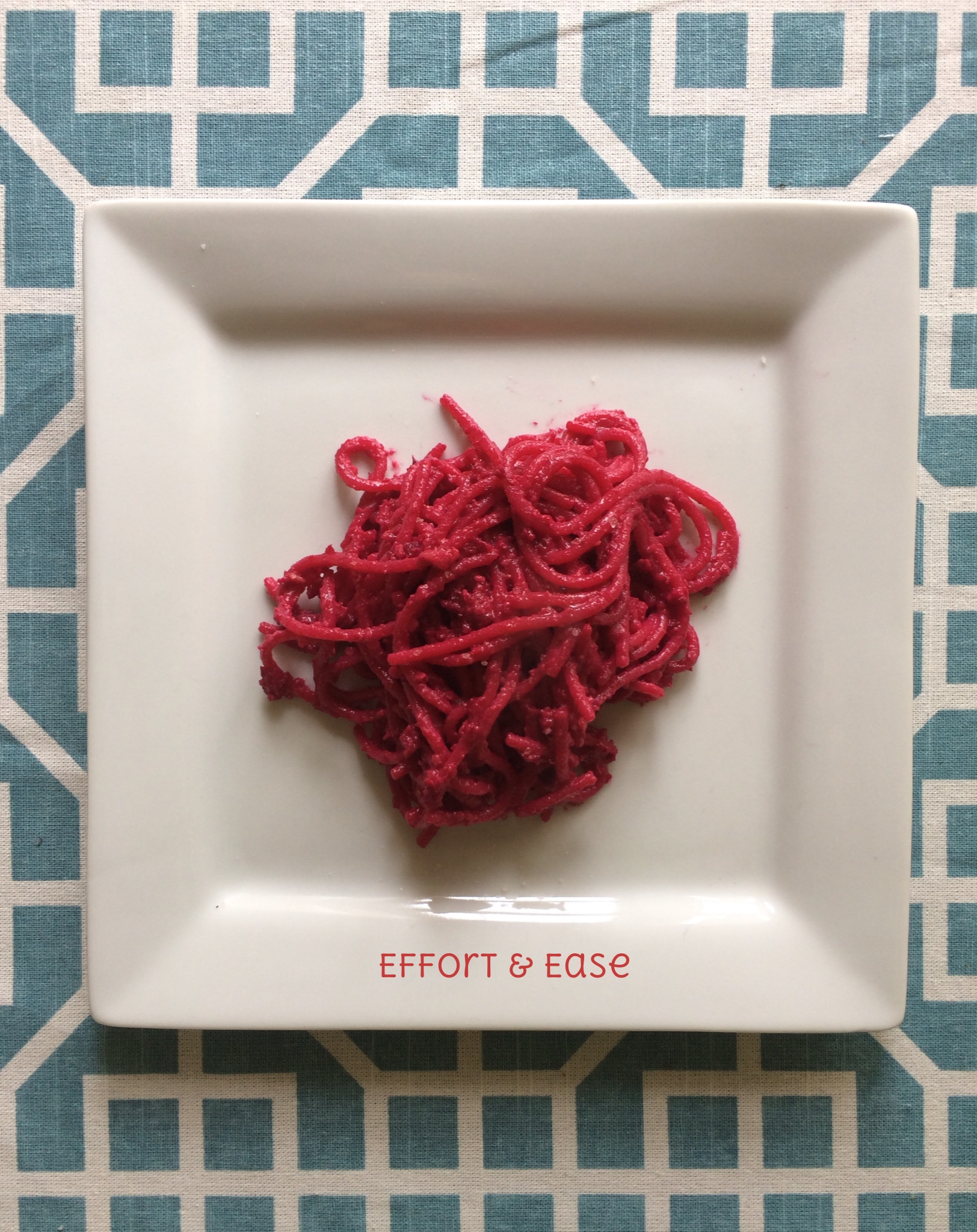 Despite it's looks: this is  not  raw beef! :) It is indeed pureed beets, walnuts & sundried tomatoes. Yum!