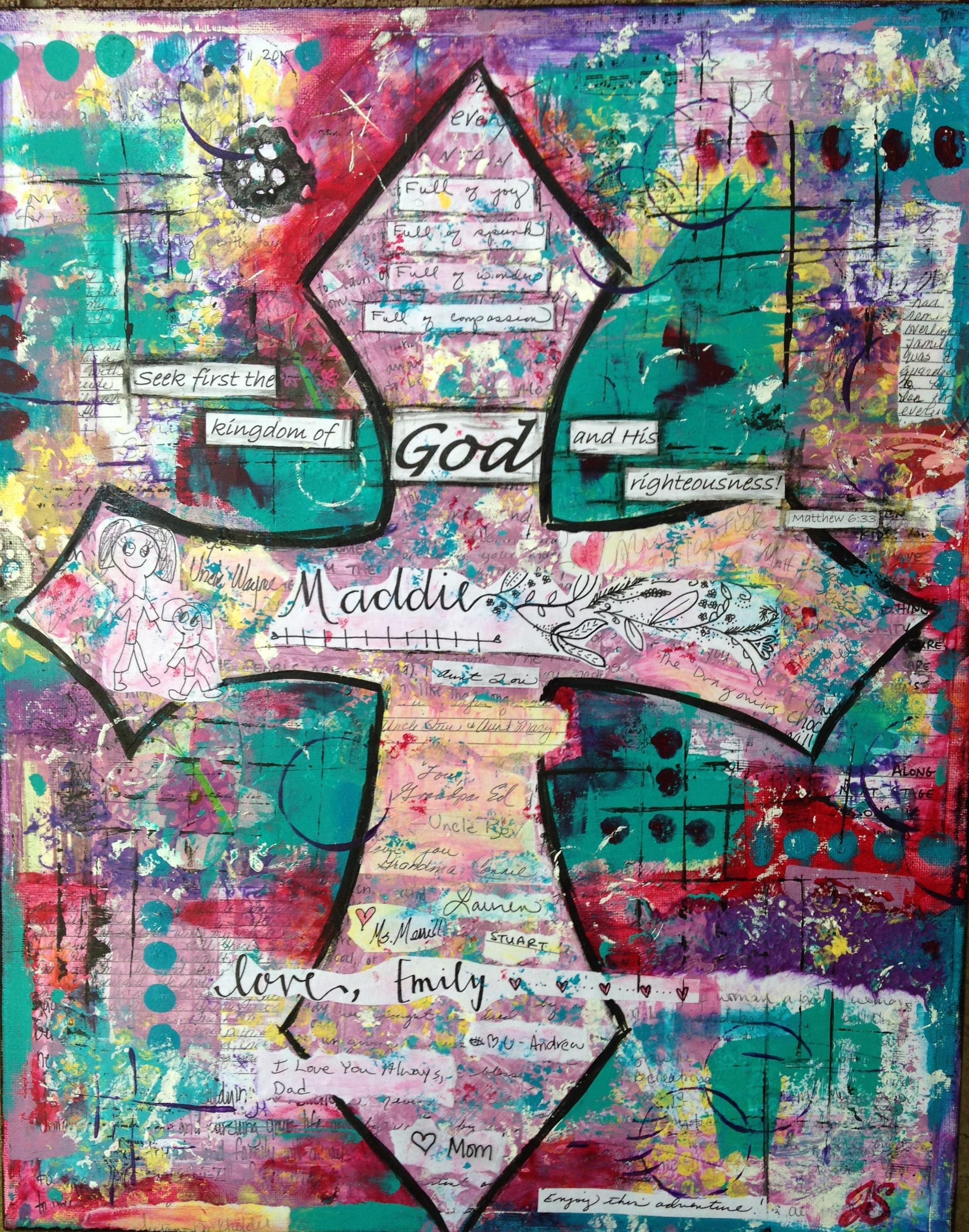 Mixed Media Legacy Cross by Jennifer Snellings