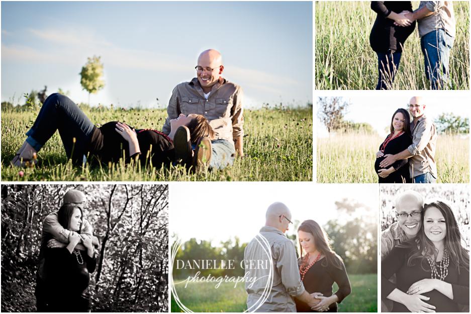 Fall outdoor maternity photo session in Buffalo Minnesota