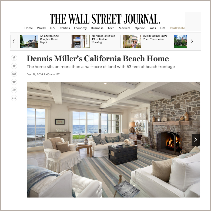 Dennis Miller's California Beach Home December 18, 2014 - The Wall Street Journal