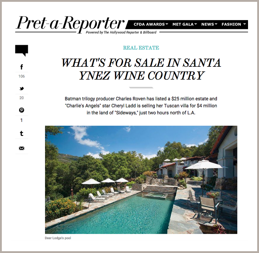 What's For Sale in Santa Ynez Wine Country January 24, 2013 - The Hollywood Reporter