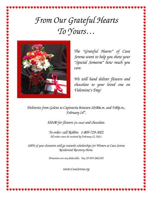 Valentine's Day Fundraiser, Santa Barbara