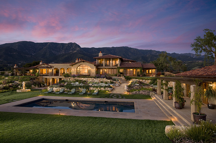 A montecito estate with 13,000 square feet.