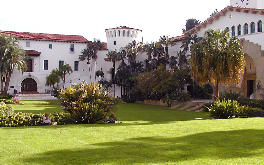 The beautiful Sunken Garden at the Santa Barbara Court House