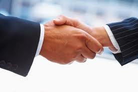 Hand shakes close many business transations