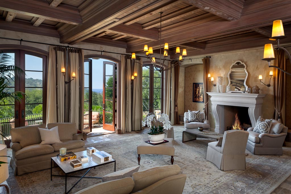 a Montecito estate's formal living room