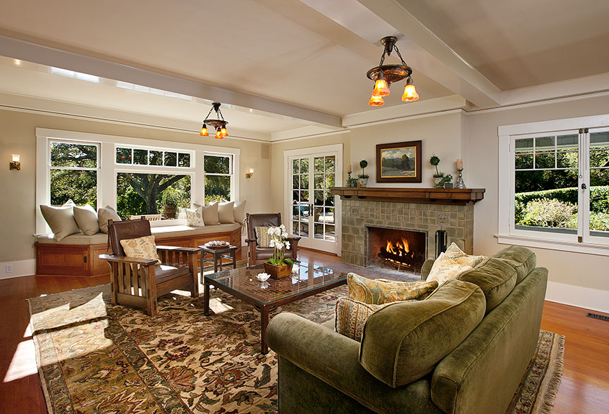 A craftsman living room in Montecito