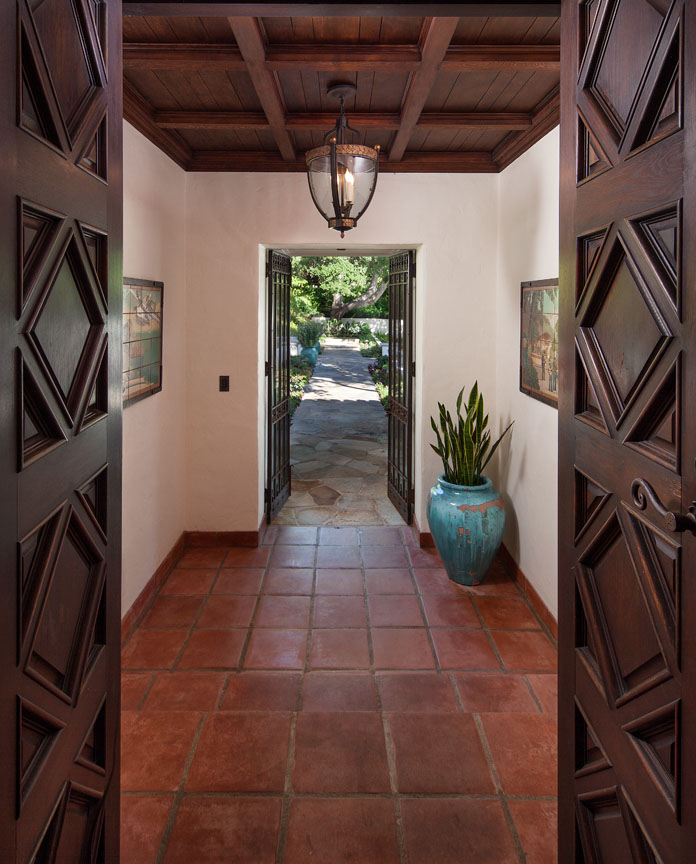 Original details adorn each room of this Hope Ranch estate offered by Riskin Associates.