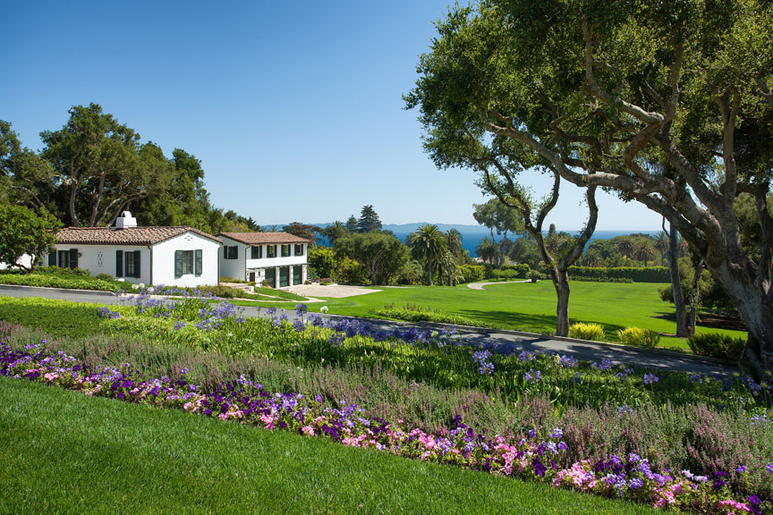 The guest house provides additional quarters while entertaining in this Santa Barbara estate.